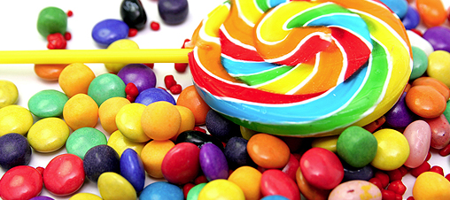 Candy eats bad bacteria in the mouth,